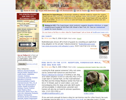 SuperVegan website