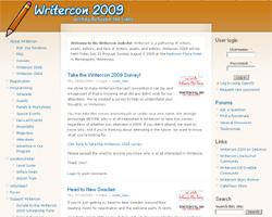 Writercon 2009 website